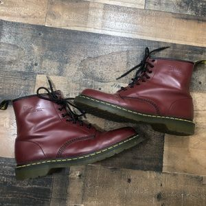 Dr. Martens Maroon Air Ware Boots maroon